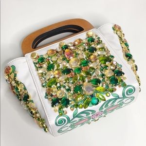 Tory Burch Embellished Bermuda Bag